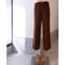 Eliott Unisex Straight Trousers in Brown