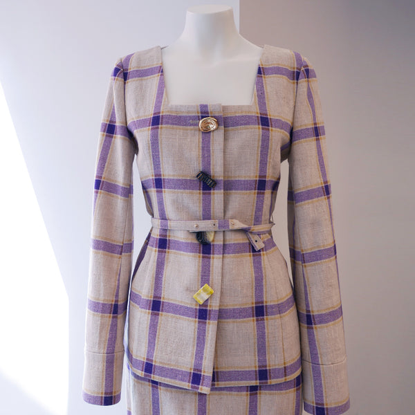 Martina Linen Jacket Purple