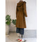 Charlie Coat in Wool Boucle Brown