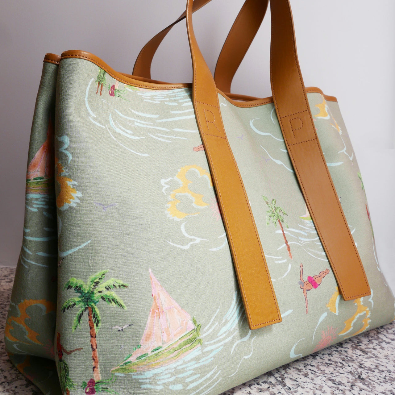 Carter Printed Canvas Tote