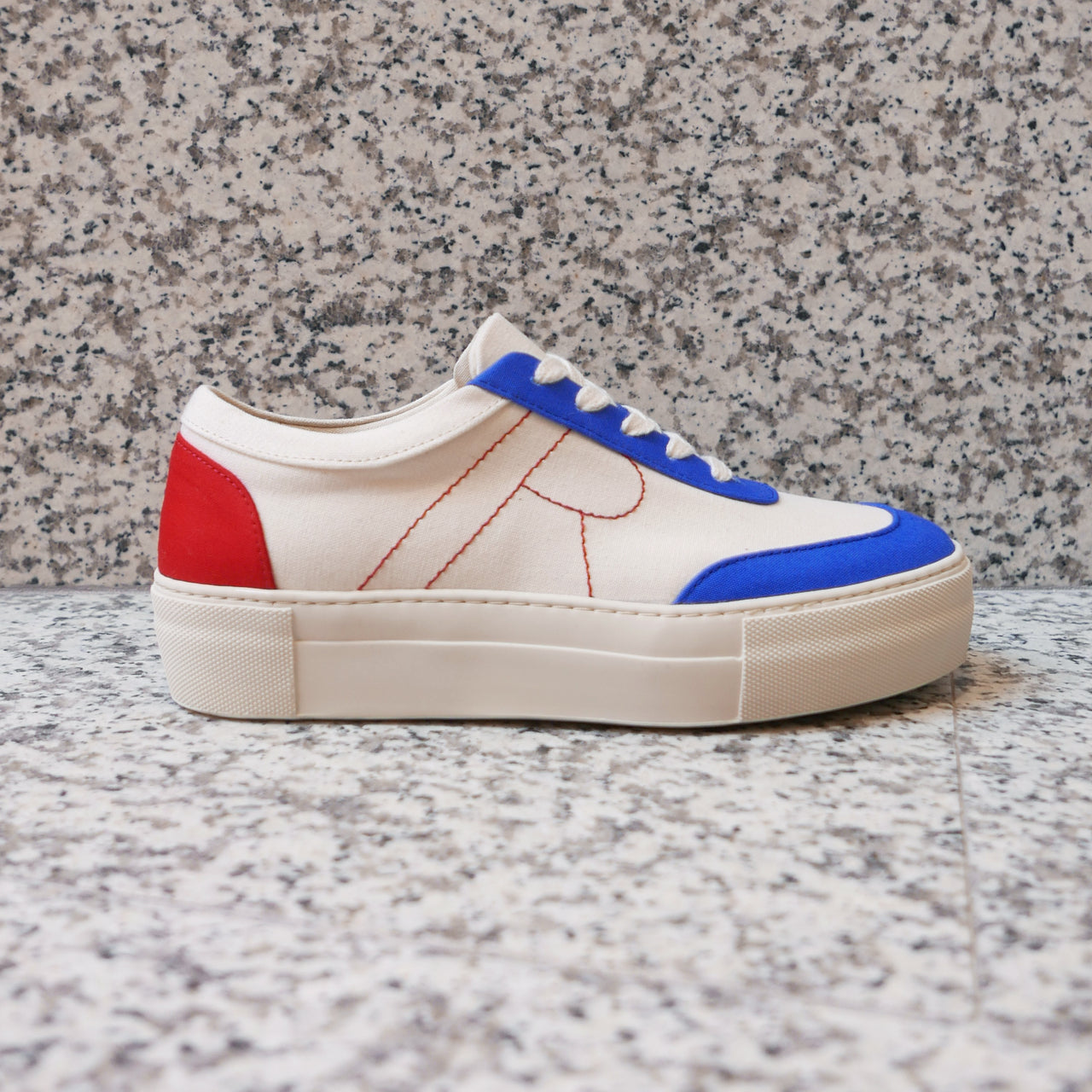 Bailey Sneakers in Blue & Red