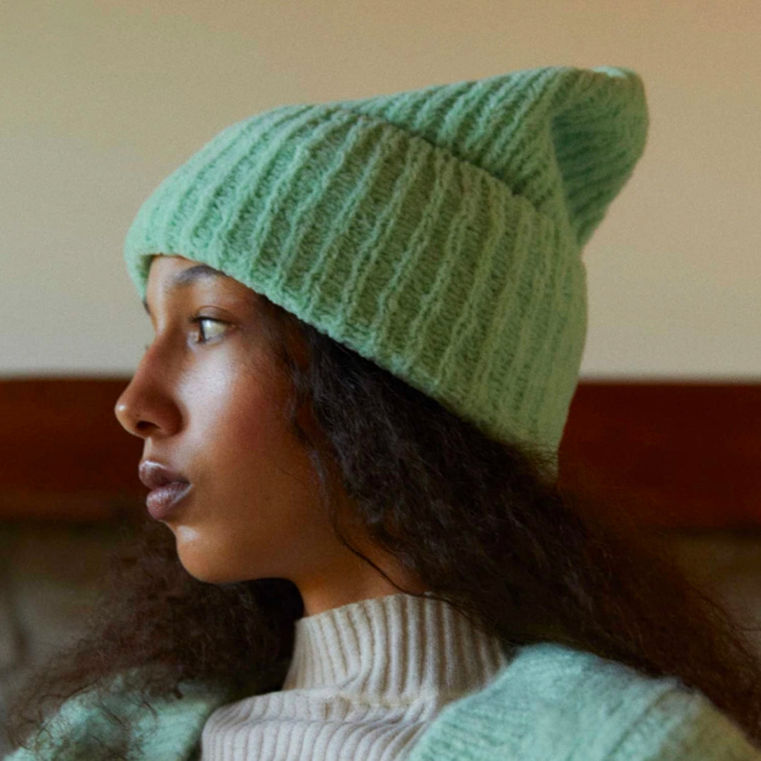 Suponji Knit Hat in Mint