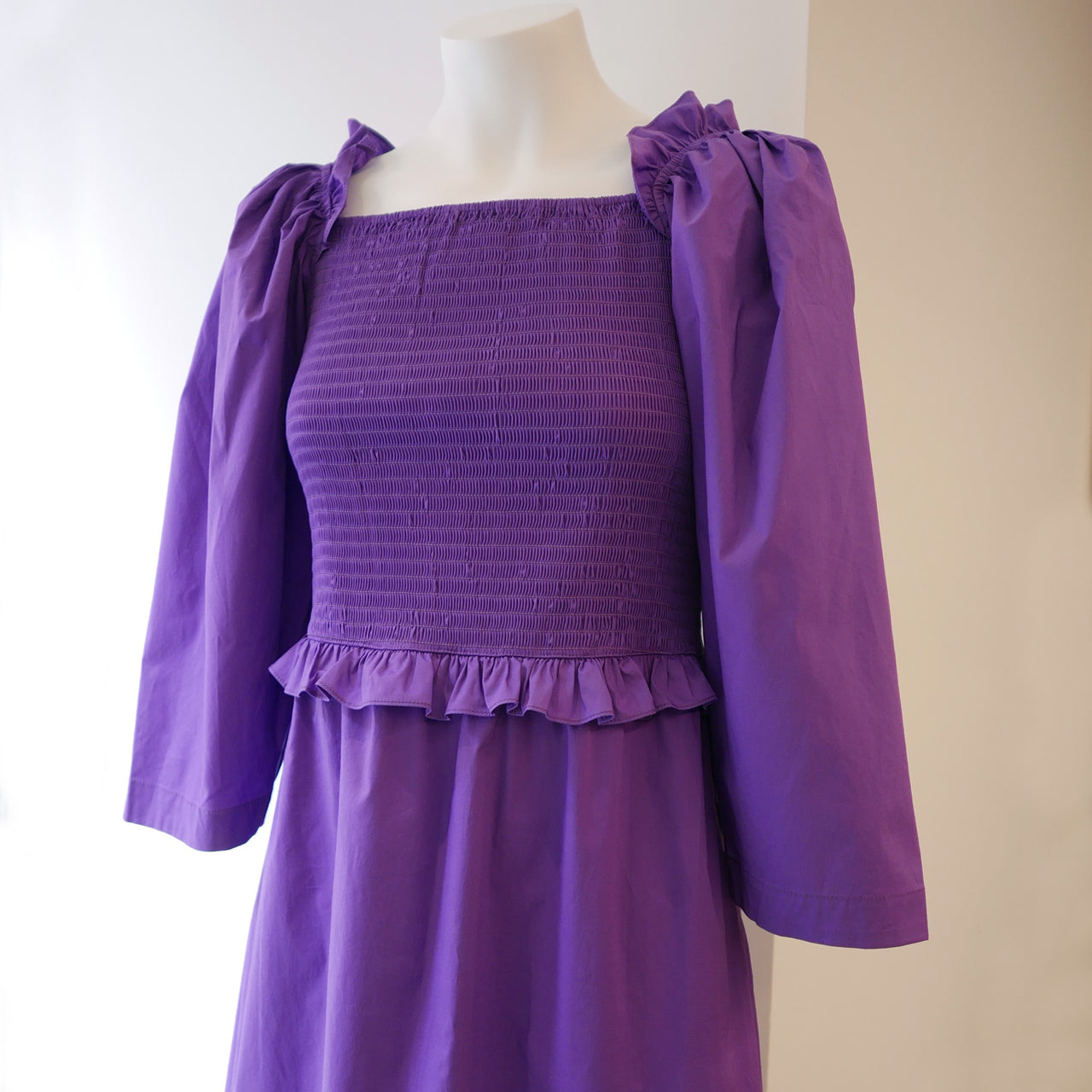 Tabitha Smocked Dress in Grape