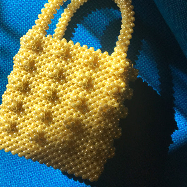 Antonia Beaded Bag in Banana