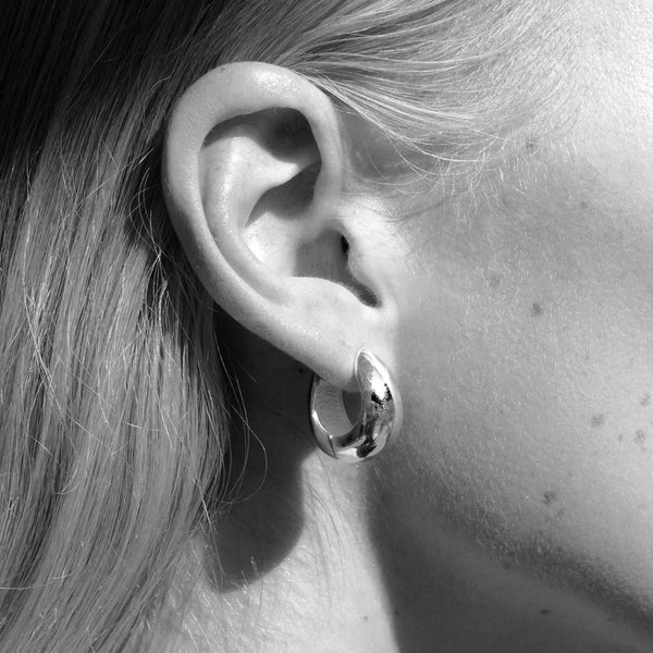 Hinged Hoops Silver