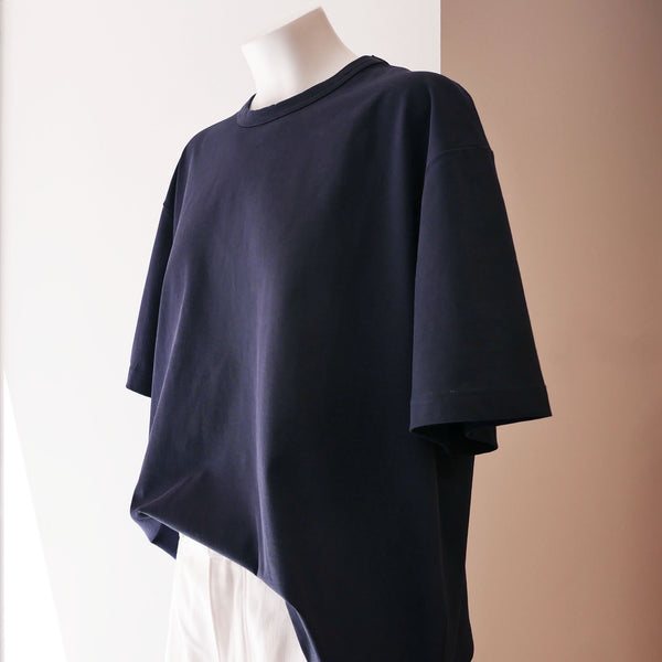 Lee Mercerized Cotton T-Shirt in Navy