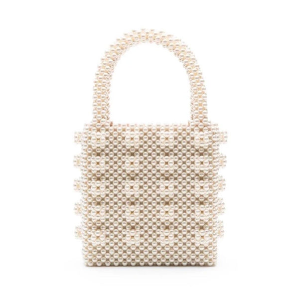 Antonia Beaded Bag in Cream