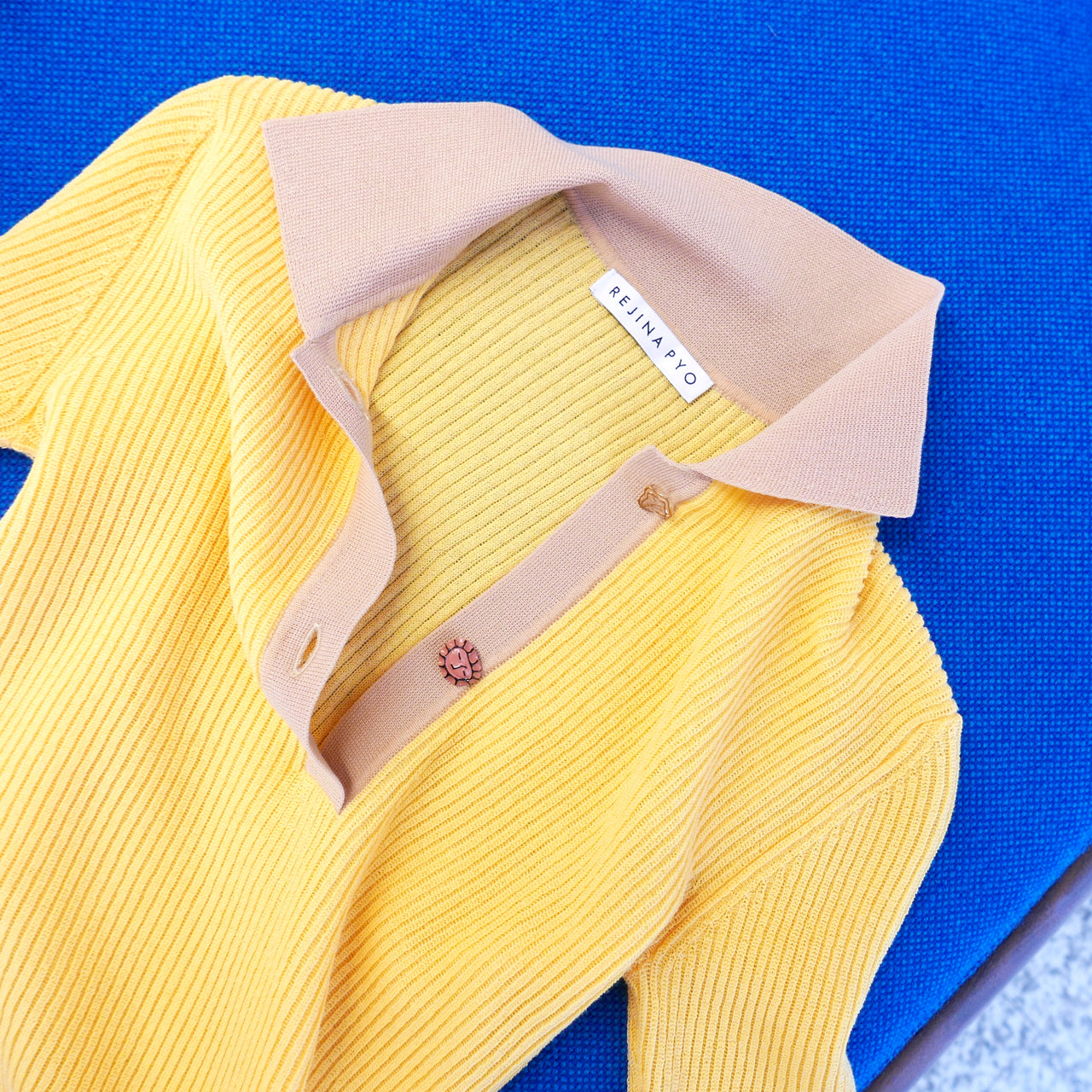 Andi Knit Polo in Yellow