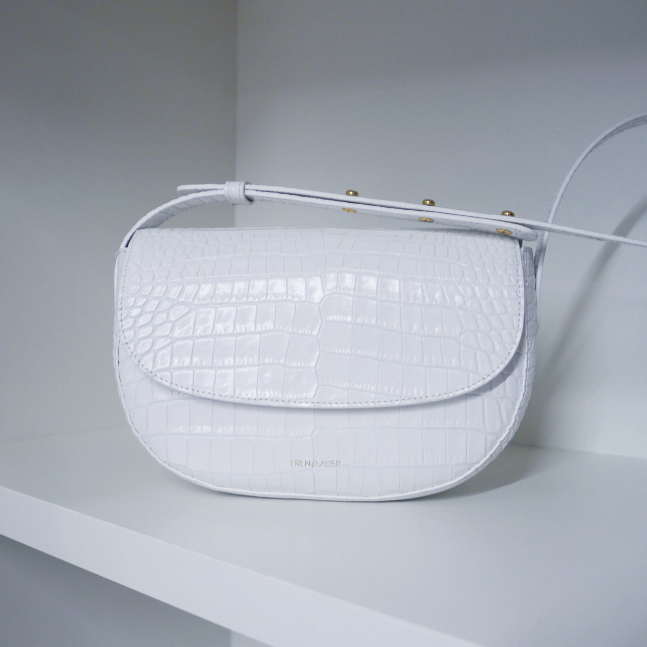 Swing Bag Croc-Effect White