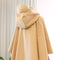 Cape Poncho Coat in Trench Beige