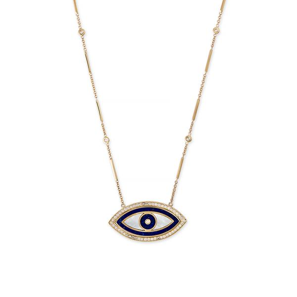 LARGE MARQUISE INLAY EYE NECKLACE