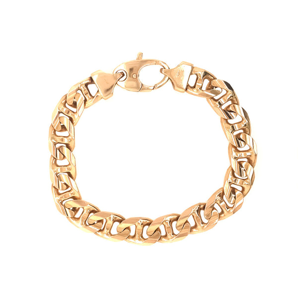 14K FANCY CURB LINK BRACELET