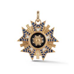 14K Gold and Enamel Military Emblem Charm