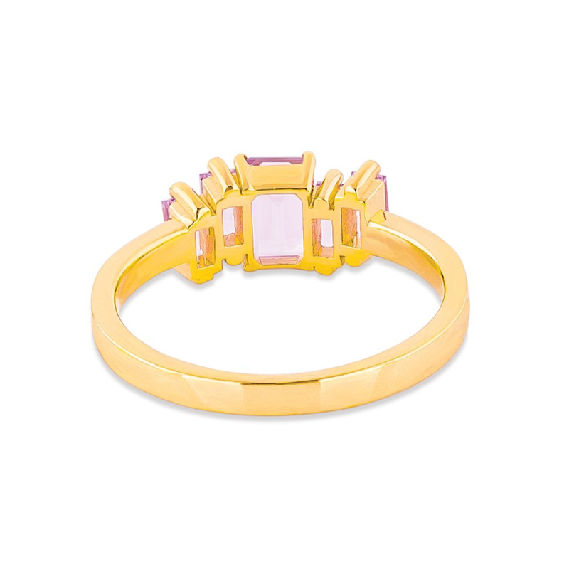 14K YELLOW GOLD AMALFI ROSE DE FRANCE CLUSTER RING