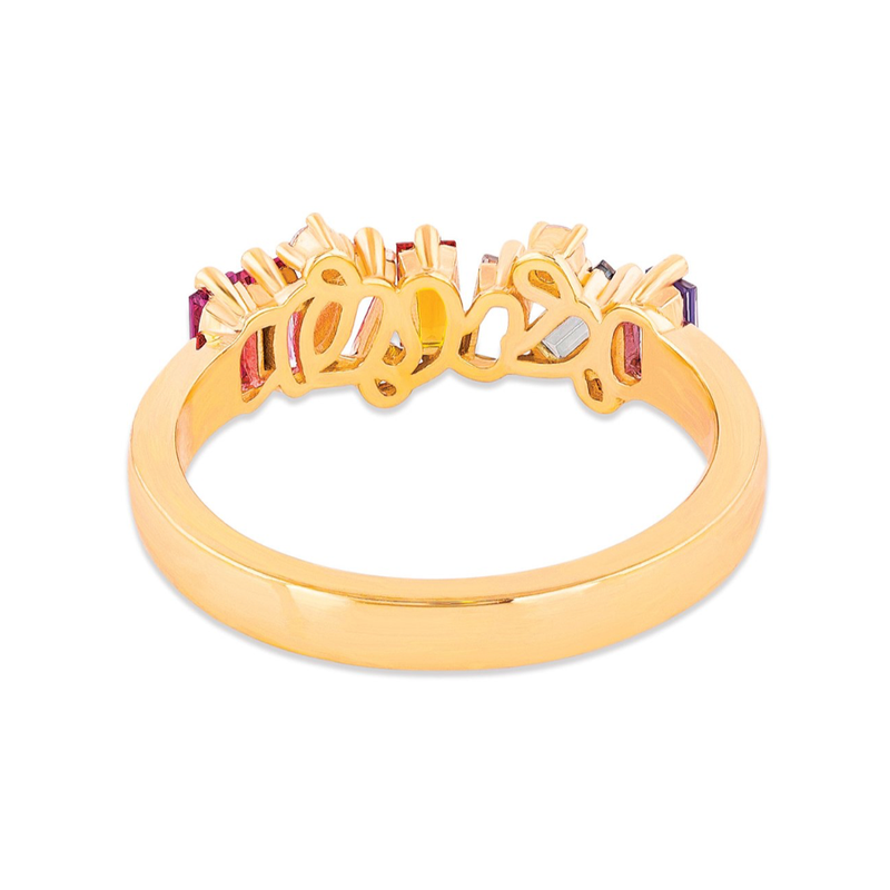 14K ROSE GOLD AMALFI WAVE BAND WITH DIAMOND DETAIL