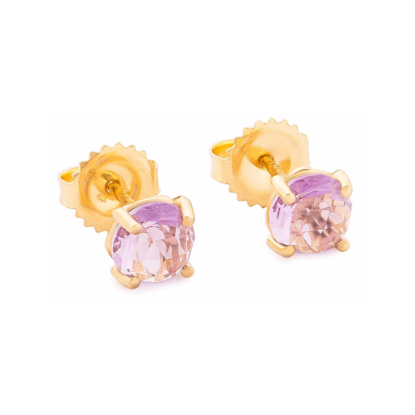 14K YELLOW GOLD FLORE POST EARRINGS