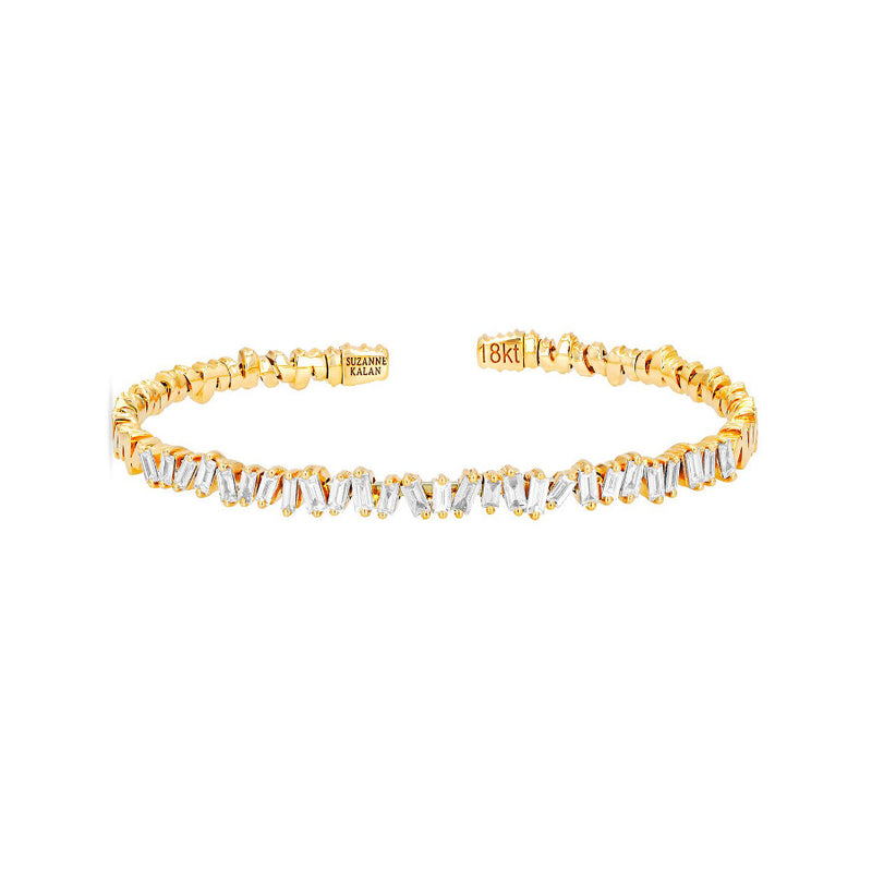 18K YELLOW GOLD CLASSIC FIREWORKS BANGLE