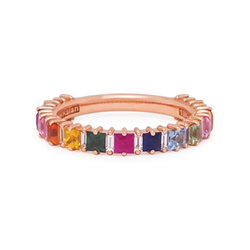 18K ROSE GOLD RAINBOW SAPPHIRE EMILY BAND