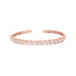 18K ROSE GOLD SHIMMER BANGLE