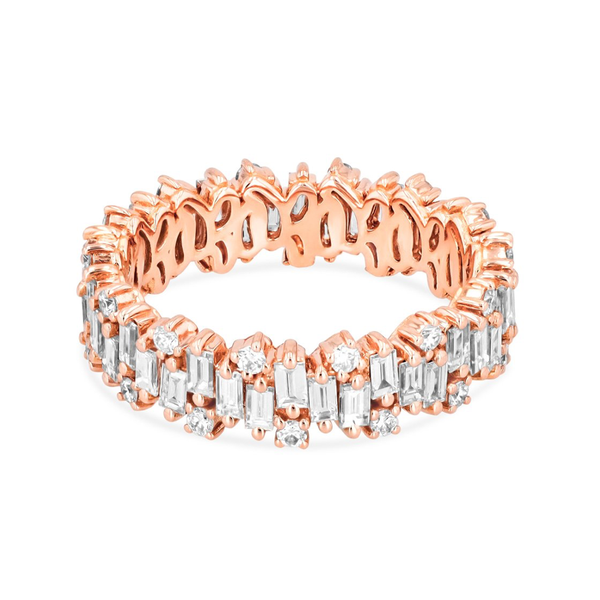 18K ROSE GOLD SHIMMER ETERNITY BAND