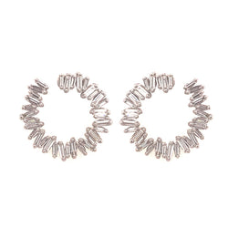 18K WHITE GOLD SMALL SPIRAL HOOP EARRINGS