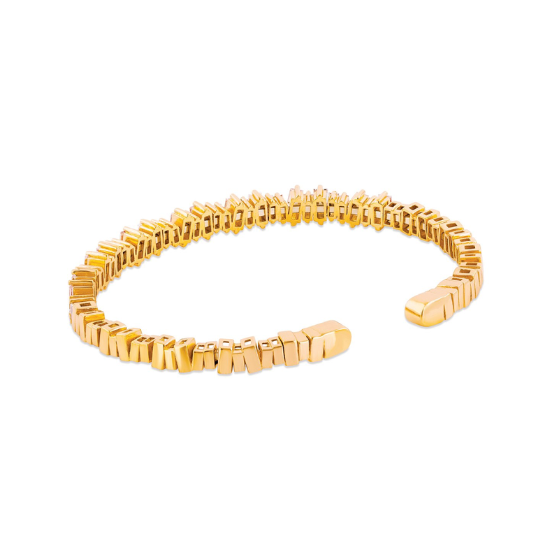 18K YELLOW GOLD NEW CLASSIC FIREWORKS BANGLE