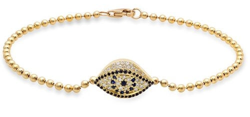Mini Evil Eye Bracelet with Diamonds