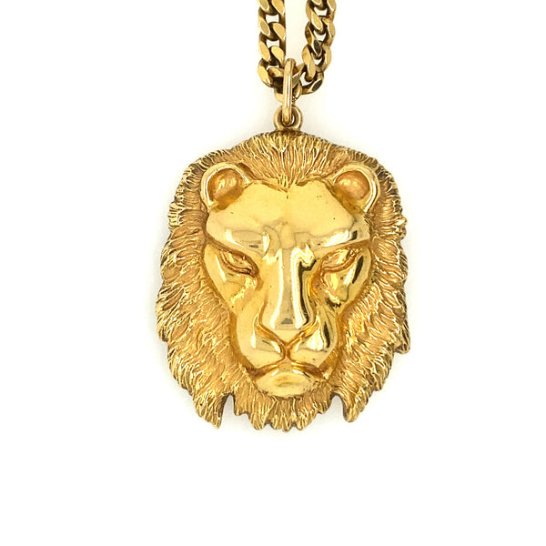 DAVID WEBB VINTAGE LION HEAD NECKLACE
