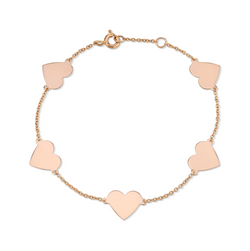 5 FLOATING HEART BRACELET