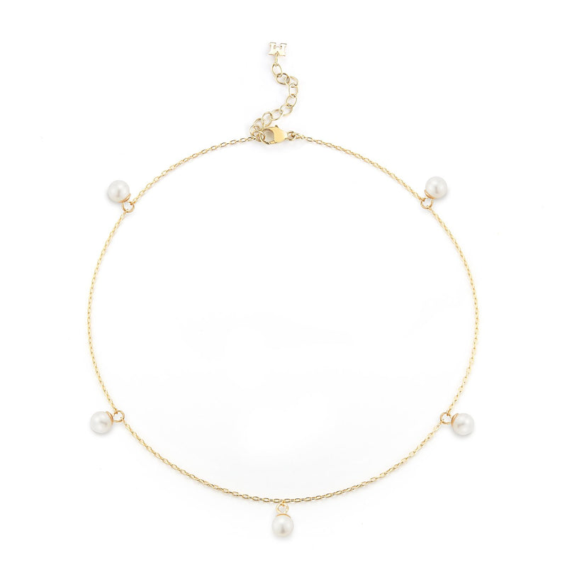 5 POINT PEARL ANKLET