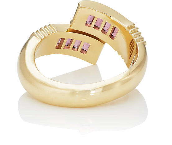 Pink Spinel Baguette Wrap Ring
