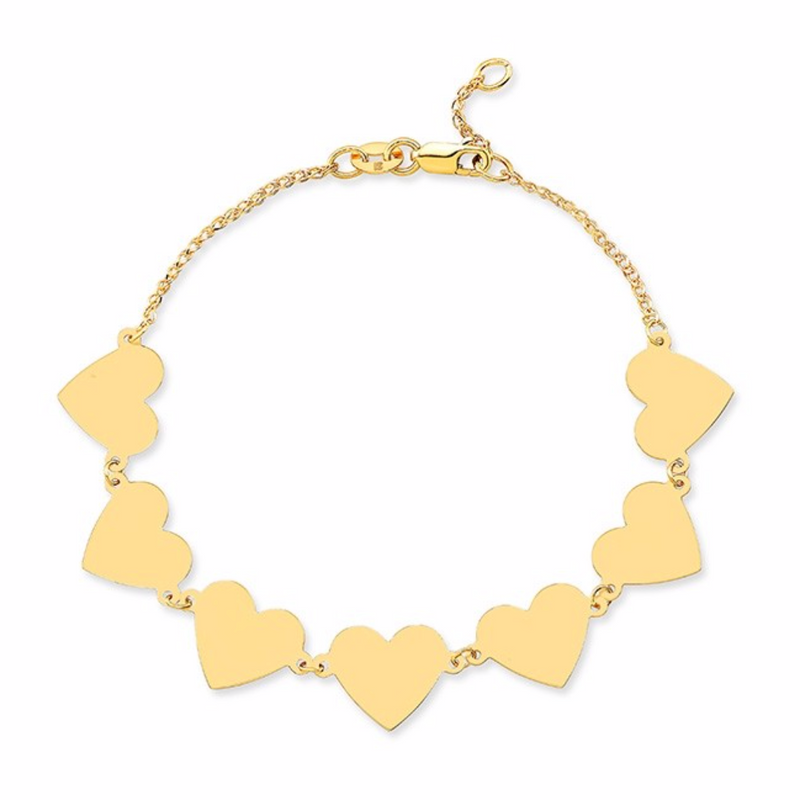 7 FLOATING HEART BRACELET