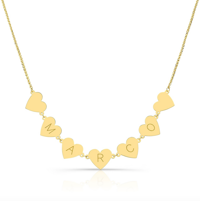 7 FLOATING HEART NECKLACE