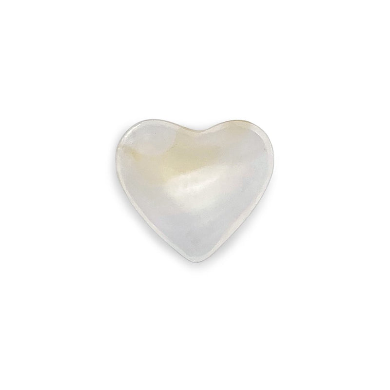 HEART SHAPED WHITE ONYX BOWL