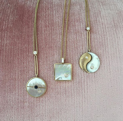 Small Mother of Pearl Optimism Necklace