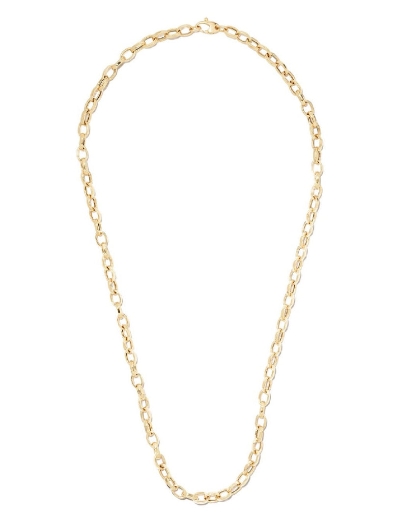 18K YELLOW GOLD 22'' SMALL OVAL CHAIN NECKLACE