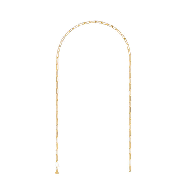 18K YELLOW GOLD 16'' SMALL LINKS CHAIN NECKLACE - RETROFITTING
