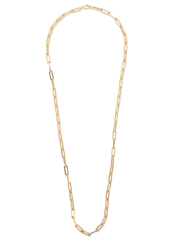 18K YELLOW GOLD 30'' LARGE LINKS CHAIN NECKLACE
