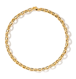 18K YELLOW GOLD 18'' BOLD LINKS CHAIN NECKLACE