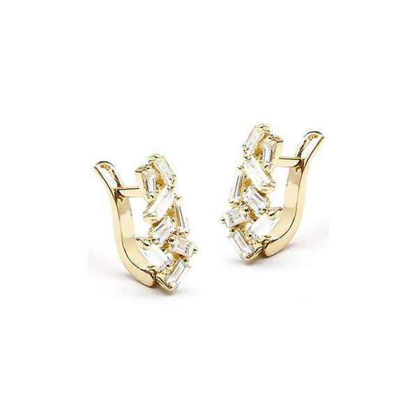 18K YELLOW GOLD MINI HUGGIE EARRINGS