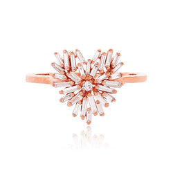 18K ROSE GOLD SMALL HEART RING
