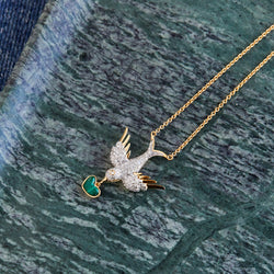 18K BIRD PEACE NECKLACE