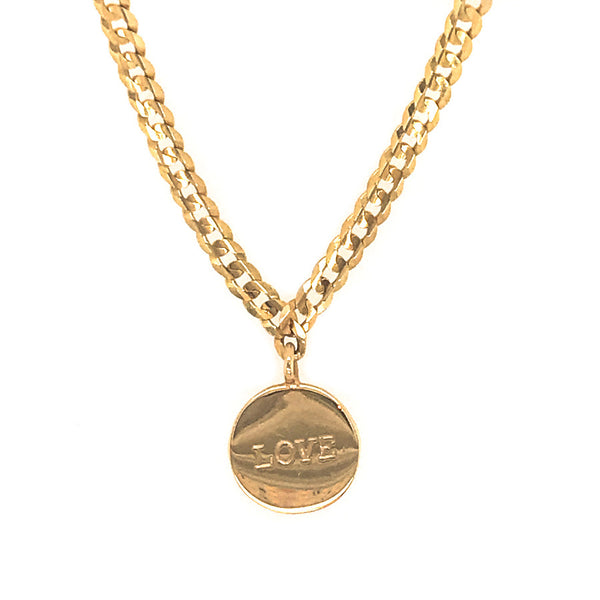 LOVE Medallion Signet Necklace