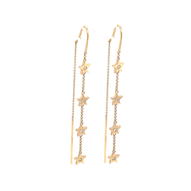 CASCADING STARS THREADER EARRINGS