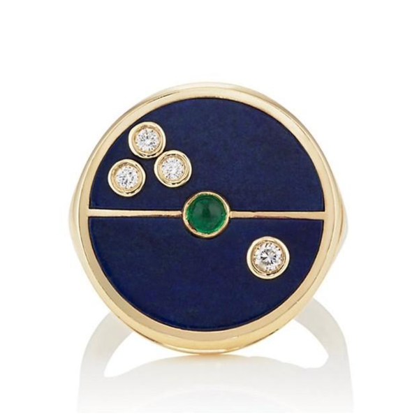 COMPASS RING - LAPIS