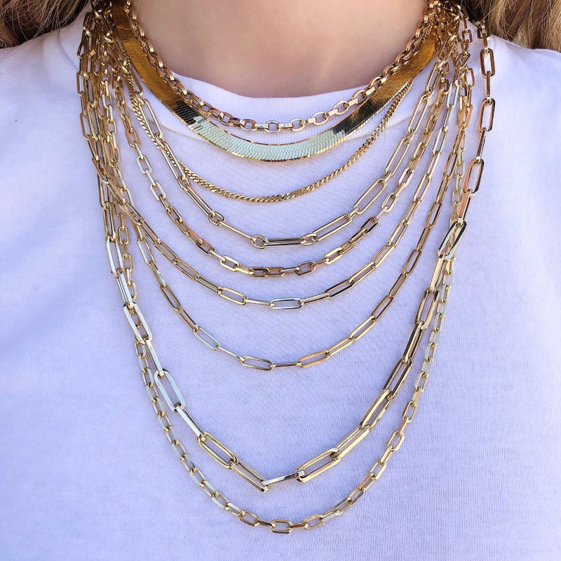 "THE ""SABLYN x JGJ"" CLASSIC LARGE PAPERCLIP HOLLOW CHAIN 20INCH NECKLACE"