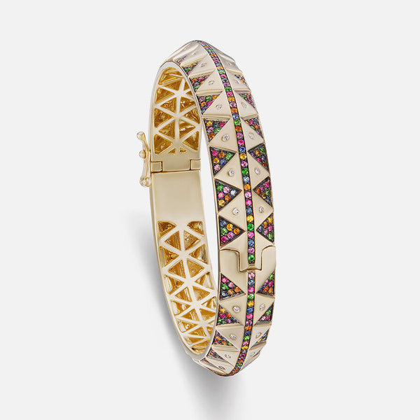 CHUBBY TALISMAN BANGLE - RAINBOW