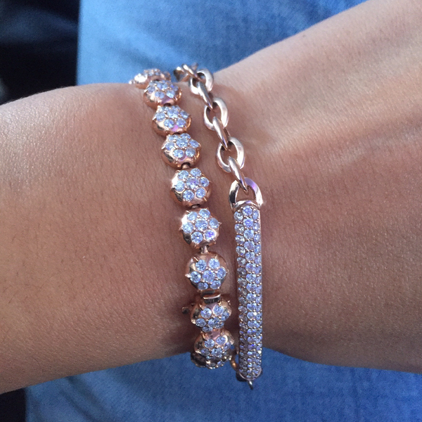 CROWN TENNIS BRACELET