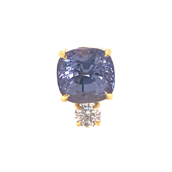 Prive single Stud with Lilac Sapphire and Diamond