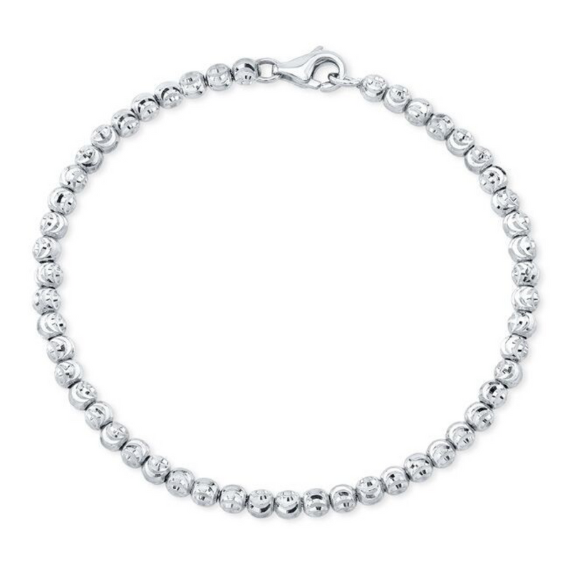 DIAMOND CUT BEAD BRACELET